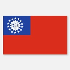 Myanmar Rectangle Decal