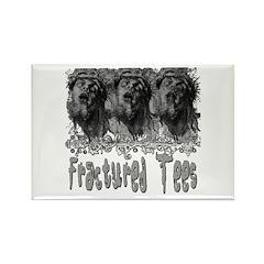 Grunge See No Evil Rectangle Magnet (100 pack)