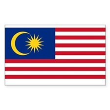 Malaysia Rectangle Decal