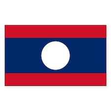 Laos Rectangle Decal