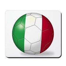 Italian Flag Soccer Ball Mousepad