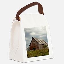 Vintage Iowa Barn  Canvas Lunch Bag
