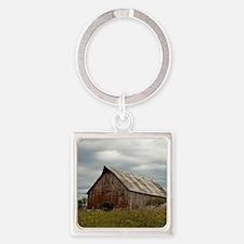 Vintage Iowa Barn  Square Keychain