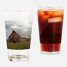 Vintage Iowa Barn  Drinking Glass