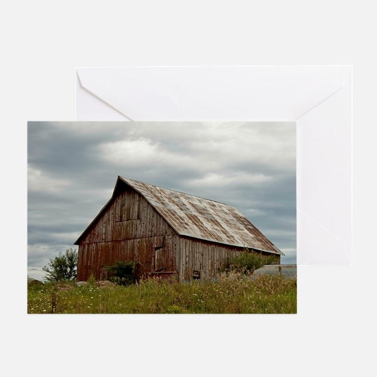 Vintage Iowa Barn  Greeting Card