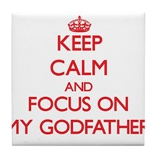 Cute Godfather quotes Tile Coaster