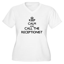 Keep calm and call the Receptionist Plus Size T-Sh