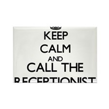 Keep calm and call the Receptionist Magnets