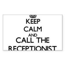 Keep calm and call the Receptionist Decal