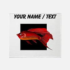 Custom Red Betta Fish Throw Blanket