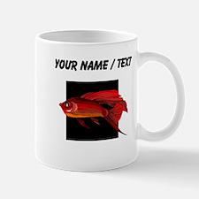 Custom Red Betta Fish Mugs