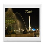"""Paris by Night"" Tile Coaster"