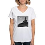 Eiffel Tower Women's V-Neck T-Shirt