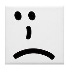 Sad Face Tile Coaster