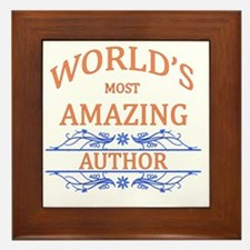 Author Framed Tile