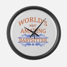 Babysitter Large Wall Clock