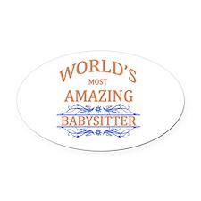 Babysitter Oval Car Magnet