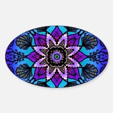 Cool Psychedelic Sticker (Oval)