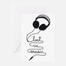 Lost in music Greeting Cards