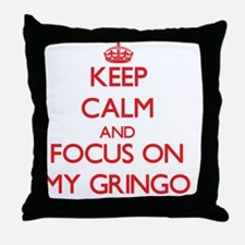 Cute I heart gringos Throw Pillow