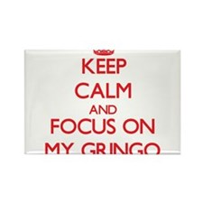 Keep Calm and focus on My Gringo Magnets