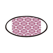 Magenta Pink White Retro Damask Patches