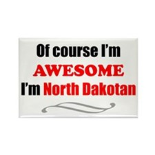 North Dakota Is Awesome Rectangle Magnet