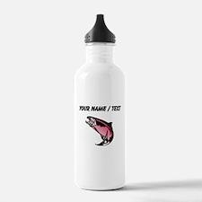 Custom Pink Trout Water Bottle