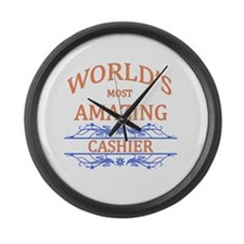 Cashier Large Wall Clock