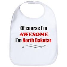 Cute North dakota state slogan Bib