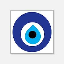 "Turkish Eye (Evil Eye) Square Sticker 3"" x 3"""