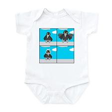 Three Craws Sat Upon A Wa' Infant Bodysuit