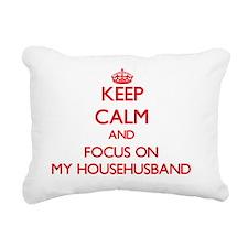 Funny I love feminism Rectangular Canvas Pillow