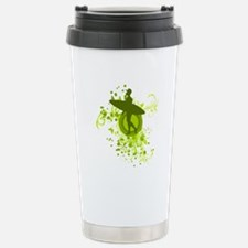 Olive Green Surfer Silhouette Travel Mug