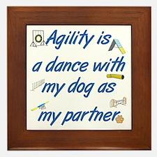 Agility Dance Framed Tile