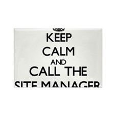 Keep calm and call the Site Manager Magnets