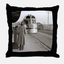 Cute Train station Throw Pillow