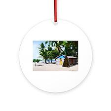 Cute Palm beach, florida christmas Ornament (Round)