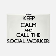 Keep calm and call the Social Worker Magnets