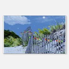 Beach Fence and Dune for Christmas Decal