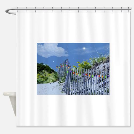 Cool Tropical christmas Shower Curtain
