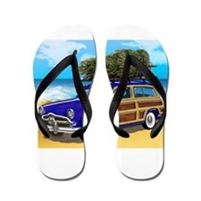 Cute Hawaiian coast Flip Flops