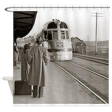 Unique Train station Shower Curtain