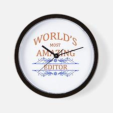 Editor Wall Clock