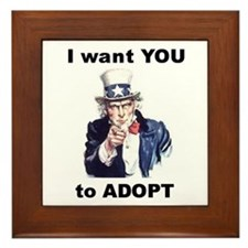 I want YOU to Adopt Framed Tile