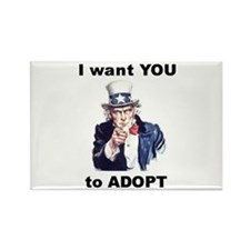 I want YOU to Adopt Rectangle Magnet