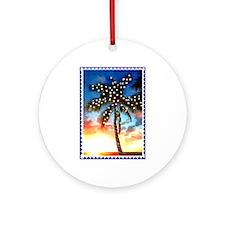Unique Palm beach, florida christmas Ornament (Round)