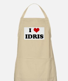 I Love IDRIS BBQ Apron