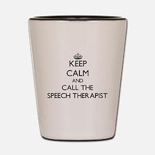 Speech language pathology Shot Glass