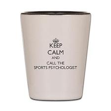 Cute Sports psychologists Shot Glass